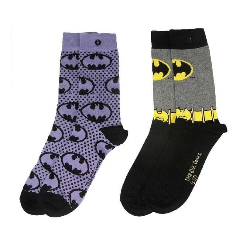 Women's Batman Sketch Assorted Socks (2 Pairs)