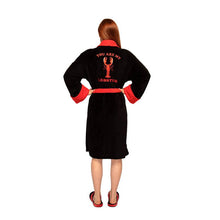 Load image into Gallery viewer, Back View of the Women's Friends You Are My Lobster Fleece Dressing Gown