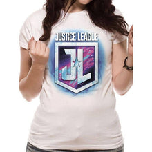 Load image into Gallery viewer, Women's Justice League Purple Shield T-Shirt