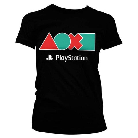 Women's PlayStation Button Icons T-Shirt.