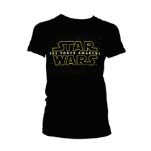 Load image into Gallery viewer, Women's Star Wars The Force Awakens Black T-Shirt.