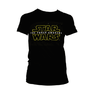Women's Star Wars The Force Awakens Black T-Shirt.