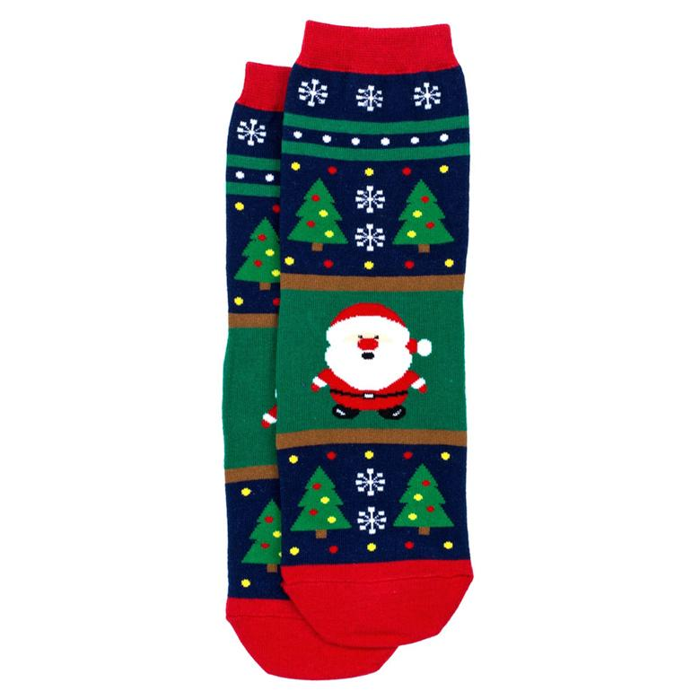 Front View of the Women's Merry Christmas Santa Crew Socks