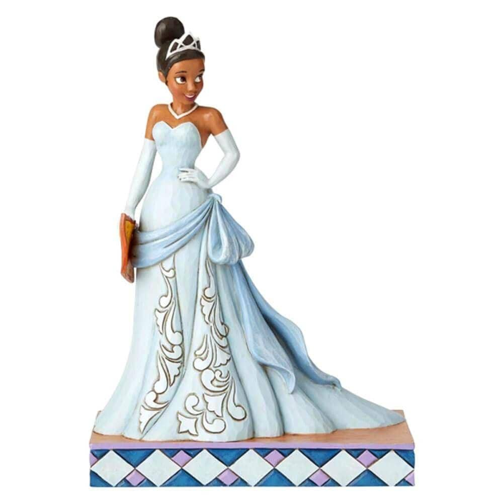 Front View of Disney Traditions Tiana Princess Passion Figurine