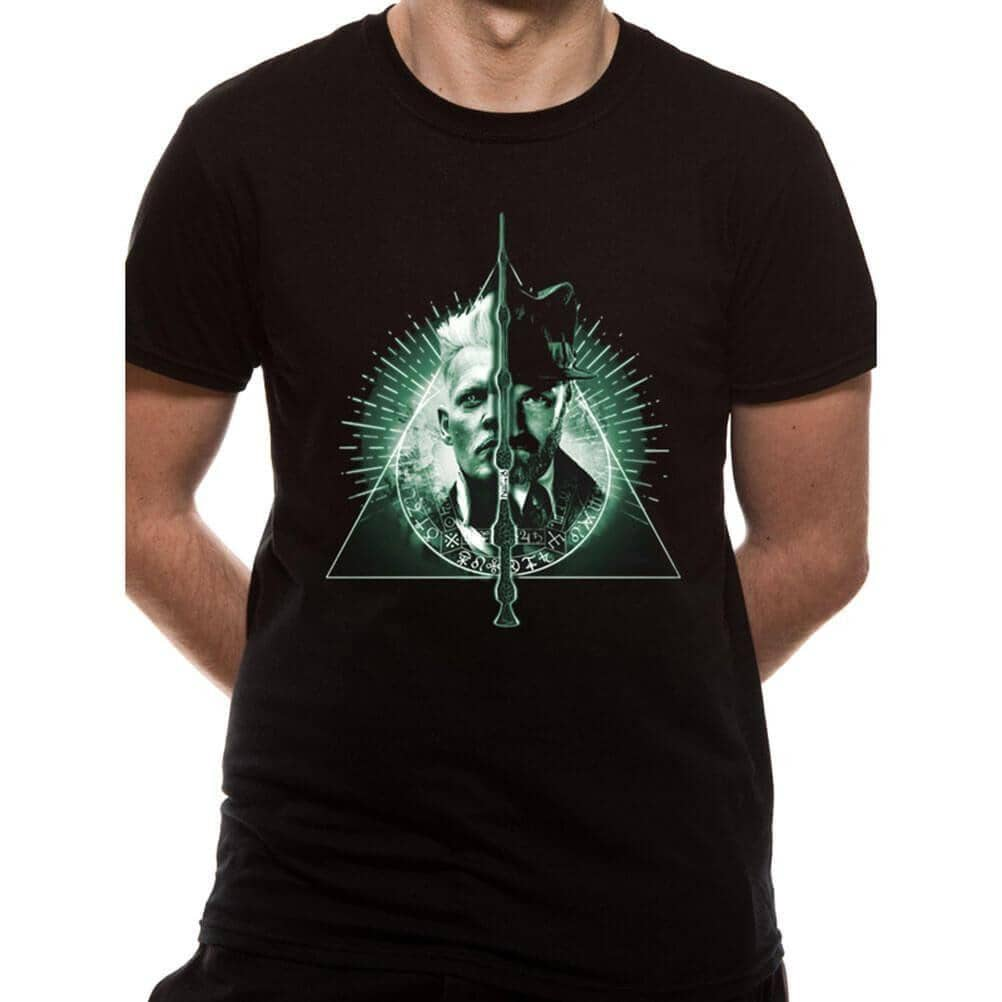 Men's Crimes of Grindelwald Deathly Hallows Split T-Shirt