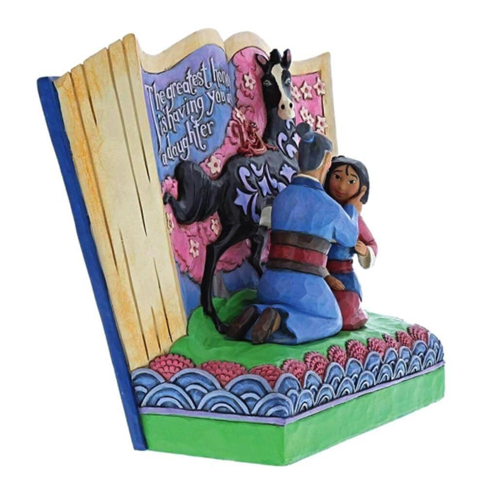 Disney Traditions Mulan Storybook 'The Greatest honera is Having You as a Daughter' Figurine