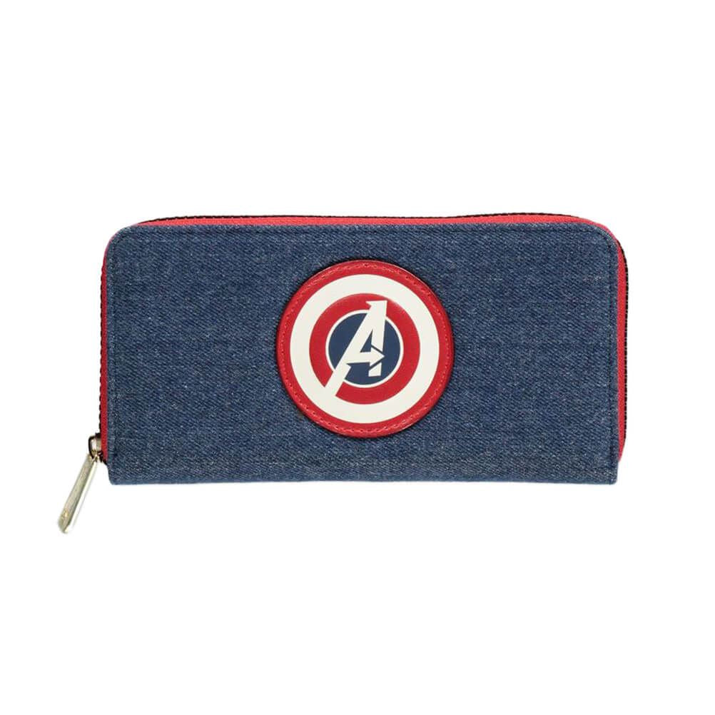 Captain America Avengers Shield Logo Clutch Purse