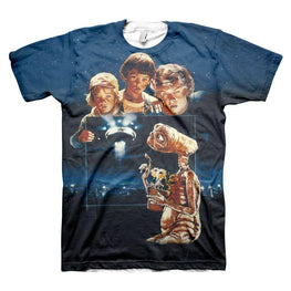 Men's E.T. Extra Terrestrial All Over Print Retro T-Shirt