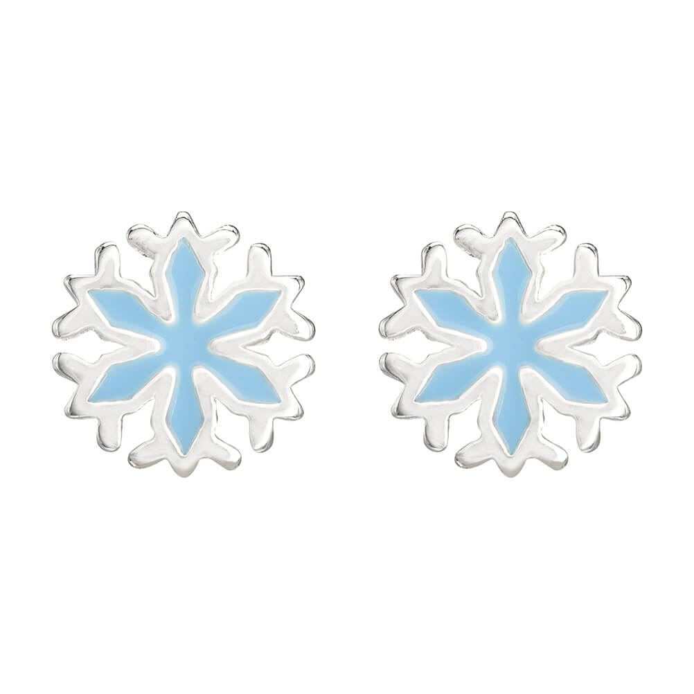 Disney Frozen Snowflakes Silver Plated Stud Earrings