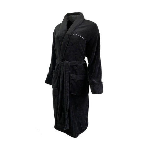 Women's Friends Logo Black Dressing Gown