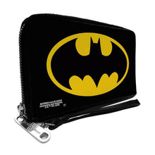Load image into Gallery viewer, DC Comics Batman Classic Logo Black Zip Around Clutch Purse