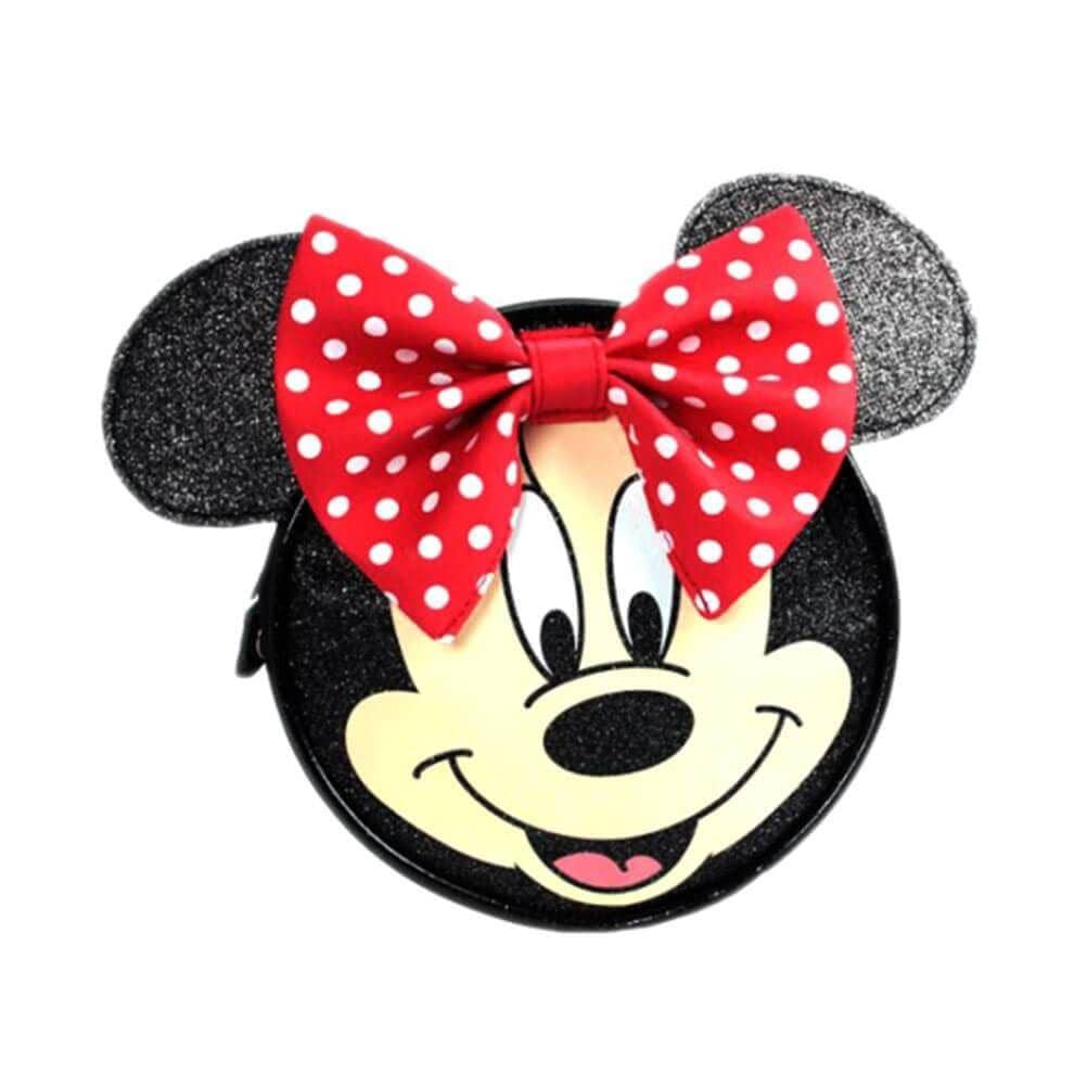 Front of Minnie Mouse Face Cross Body Bag with 3D Ears