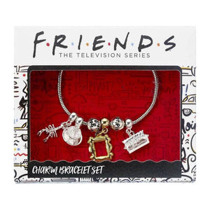 Friends Silver Plated Slider Charm Bracelet with Charms