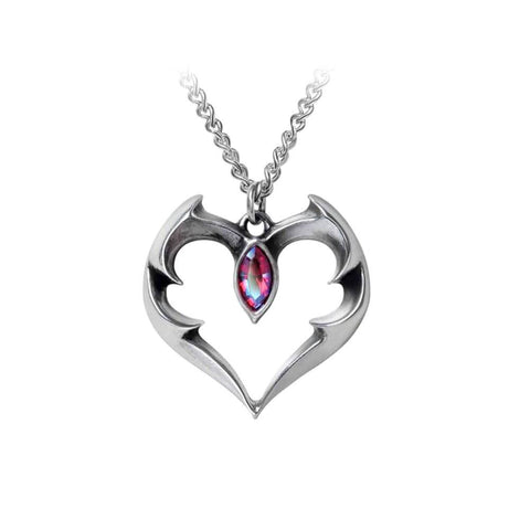 Alchemy Gothic Batheart The Vampire's Kiss Pewter Pendant