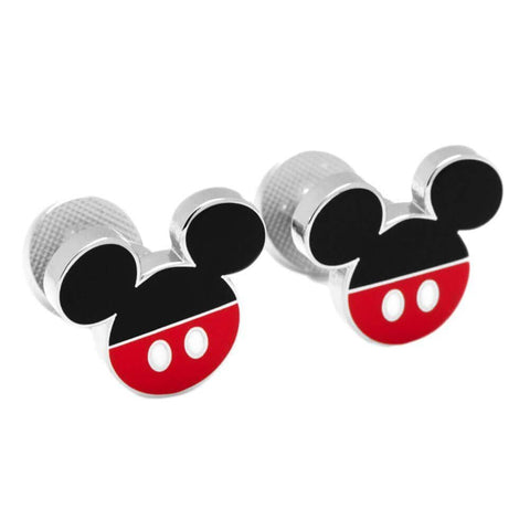 Pair of Black and Red Disney Mickey Mouse Pants Cufflinks