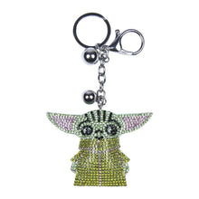 Load image into Gallery viewer, Star Wars The Mandalorian The Child 3D Sparkly Charm Keyring