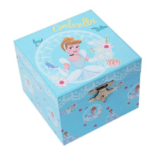 Load image into Gallery viewer, Disney Princess Cinderella Pastel Musical Jewellery Box.