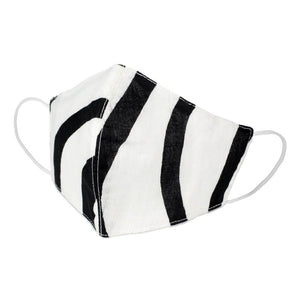 Monochrome Stripe Cotton Face Mask