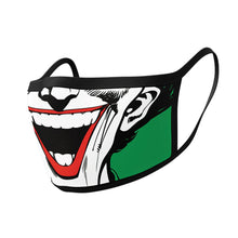 Load image into Gallery viewer, DC Comics The Joker Triple Layer Cotton Fabric Face Mask 2PK.