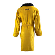 Load image into Gallery viewer, Star Trek Captain Kirk Adult Mustard Fleece Dressing Gown.