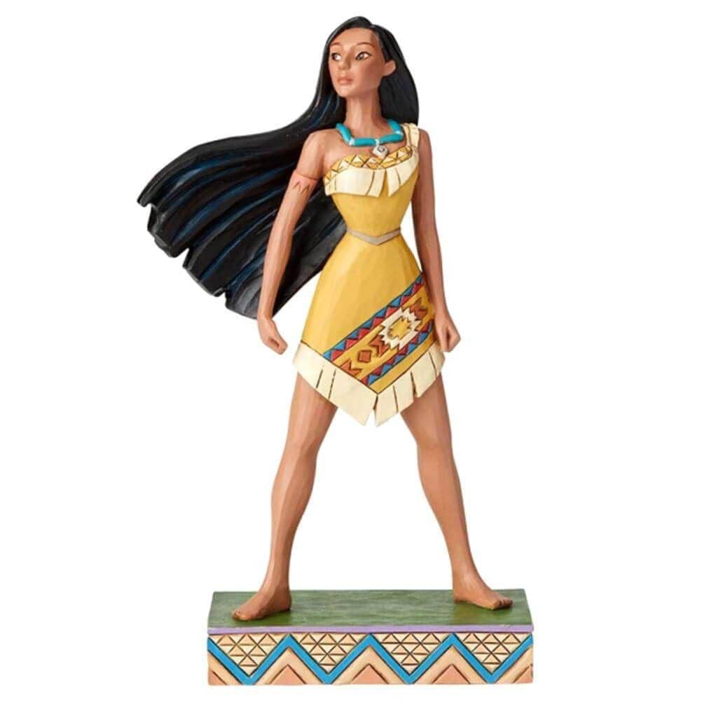 Front View of Disney Traditions Pocahontas Princess Passion Figurine