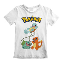 Load image into Gallery viewer, Children's Pokemon Original Trio Characters White T-Shirt