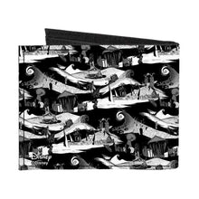 Load image into Gallery viewer, Disney Nightmare Before Christmas Halloween Town Bi-Fold Wallet