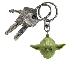 Load image into Gallery viewer, Star Wars Yoda Face 3D Keyring