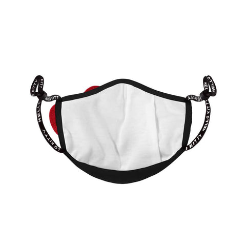 Hello Kitty Classic Bow Black Cloth Face Mask