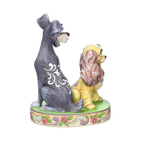 Disney Traditions Lady and The Tramp 'Opposites Attract' Figurine.