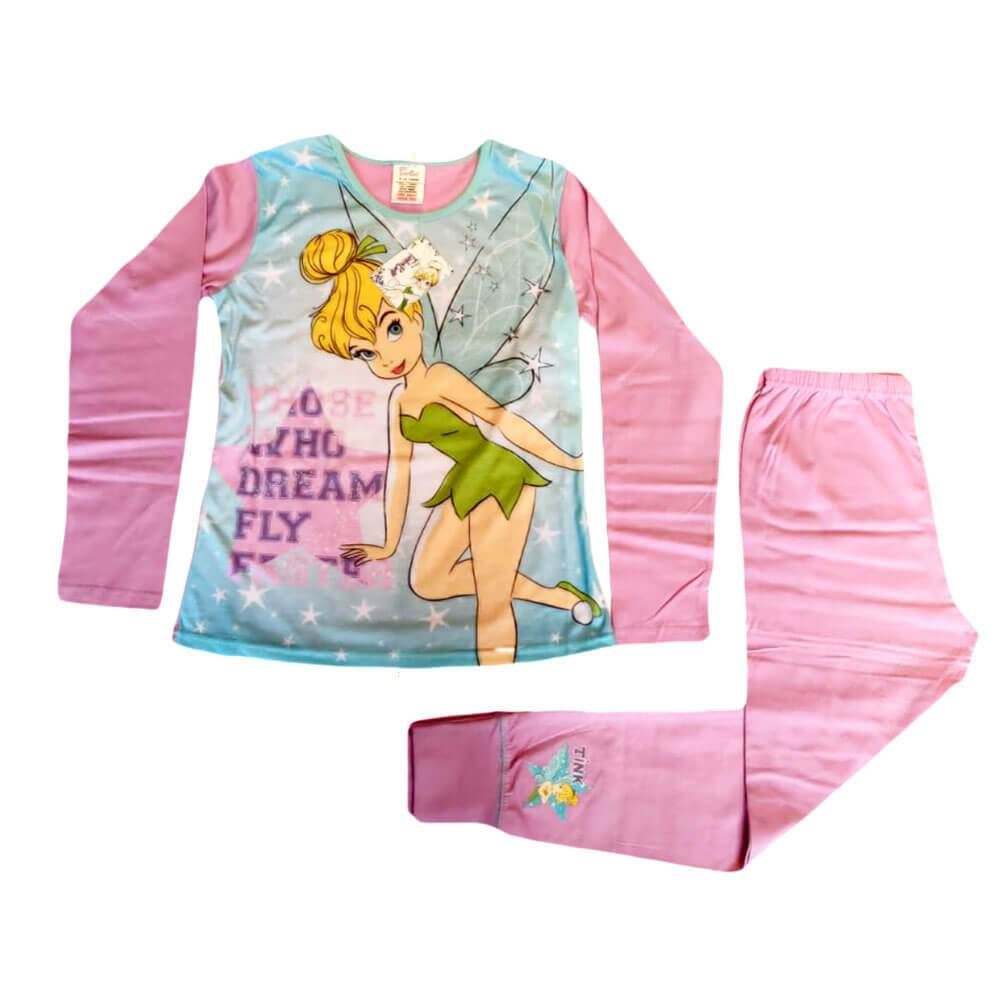 Children's Disney Tinker Bell 'Those Who Dream Fly Faster' Pyjama Set.