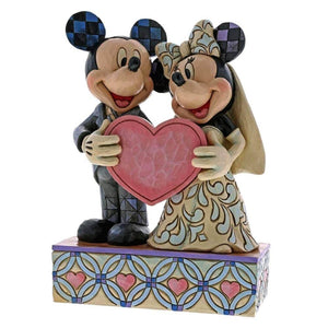 "Disney Traditions Mickey & Minnie ""Two Souls, One Heart"" Figurine"