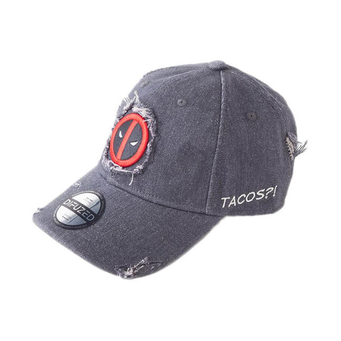 Marvel Deadpool Logo Worn Curved Bill Cap