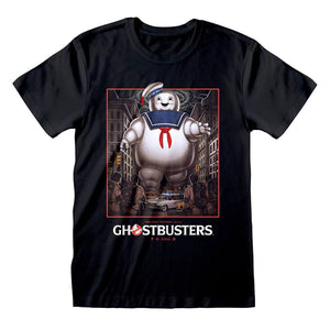 Men's Ghostbusters Stay Puft Poster Black T-Shirt