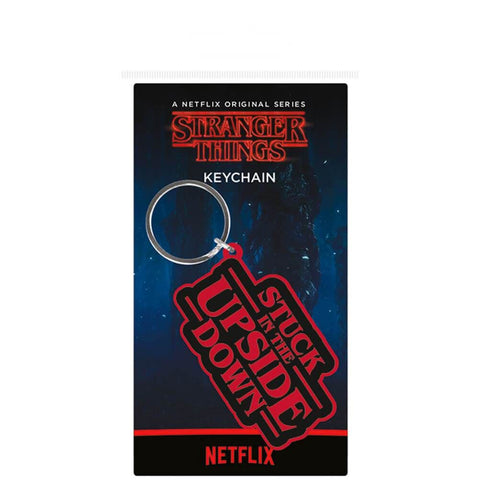 Stranger Things Stuck in the Upside Down Rubber Keyring