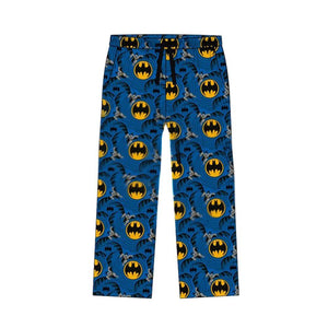 Men's DC Comics Batman Classic Suit Print Blue Lounge Pants
