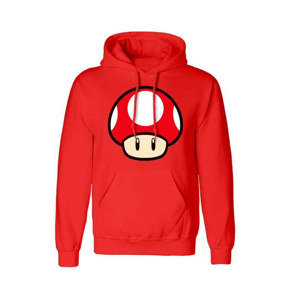 Super Mario Power Up Mushroom Red Hoodie