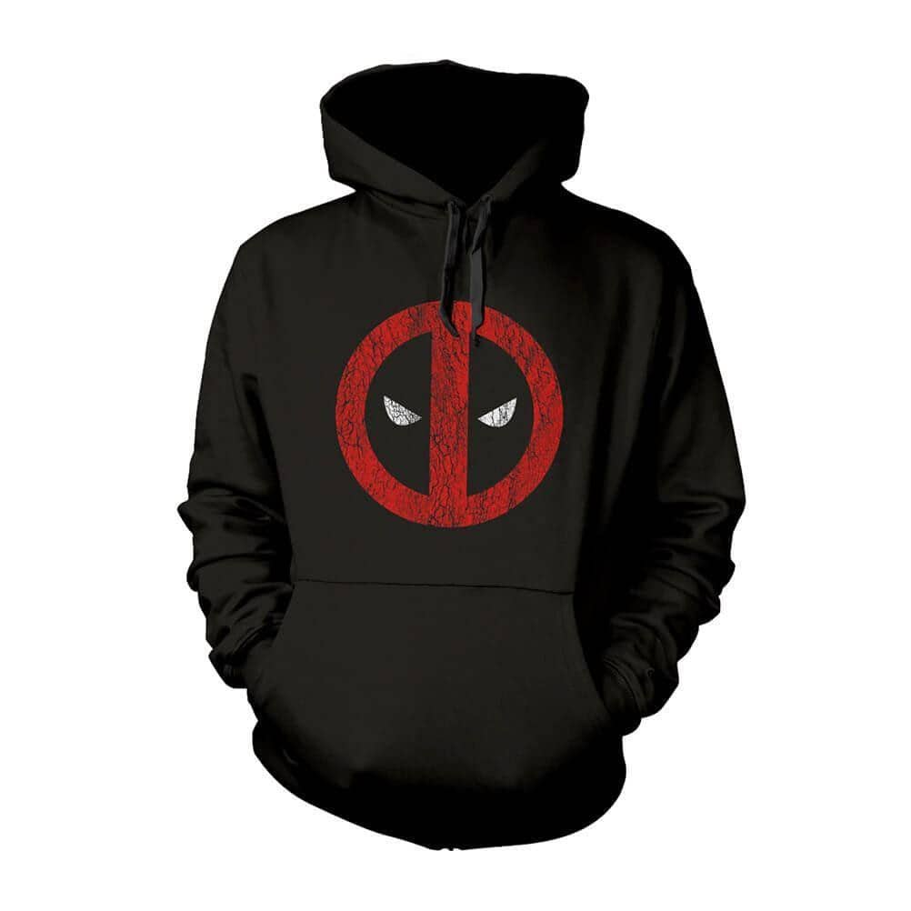 Men's Marvel Deadpool Cracked Logo Hoodie