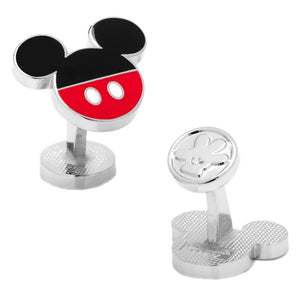 Front and Back Design of the Disney Mickey Mouse Pants Cufflinks with Fixed Backings