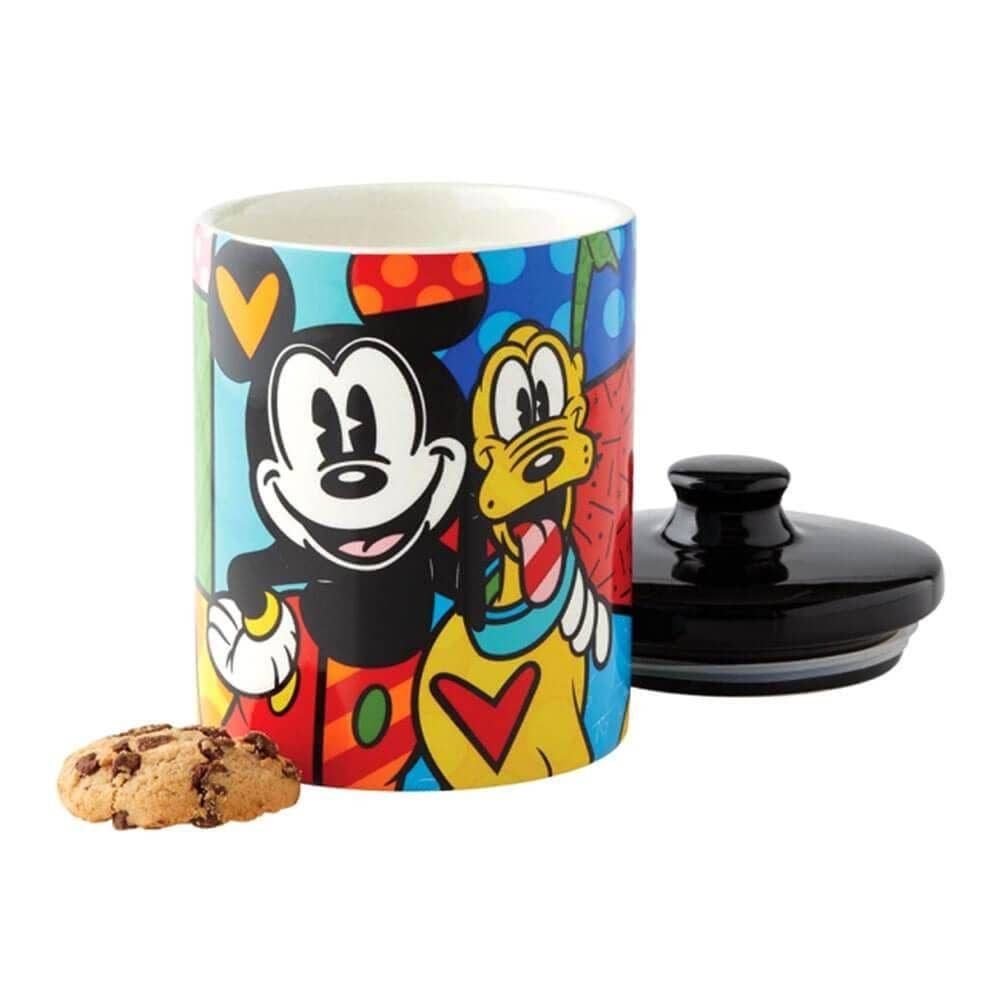 Disney Britto Mickey and Pluto Cookie Jar