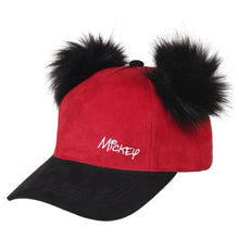 Load image into Gallery viewer, Mickey Mouse Premium Curved Bill Cap with Pom-Poms