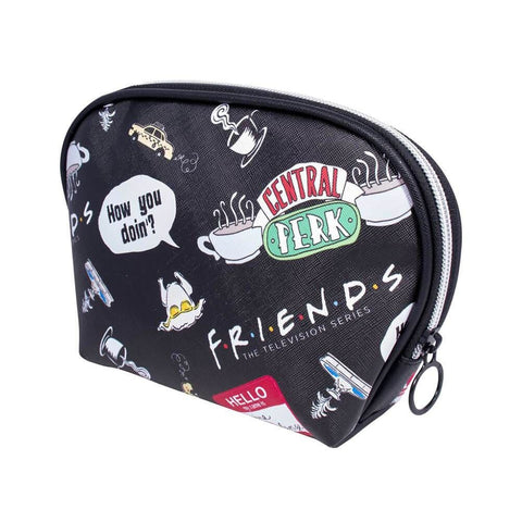 Friends Icons AOP Black Toiletry Bag