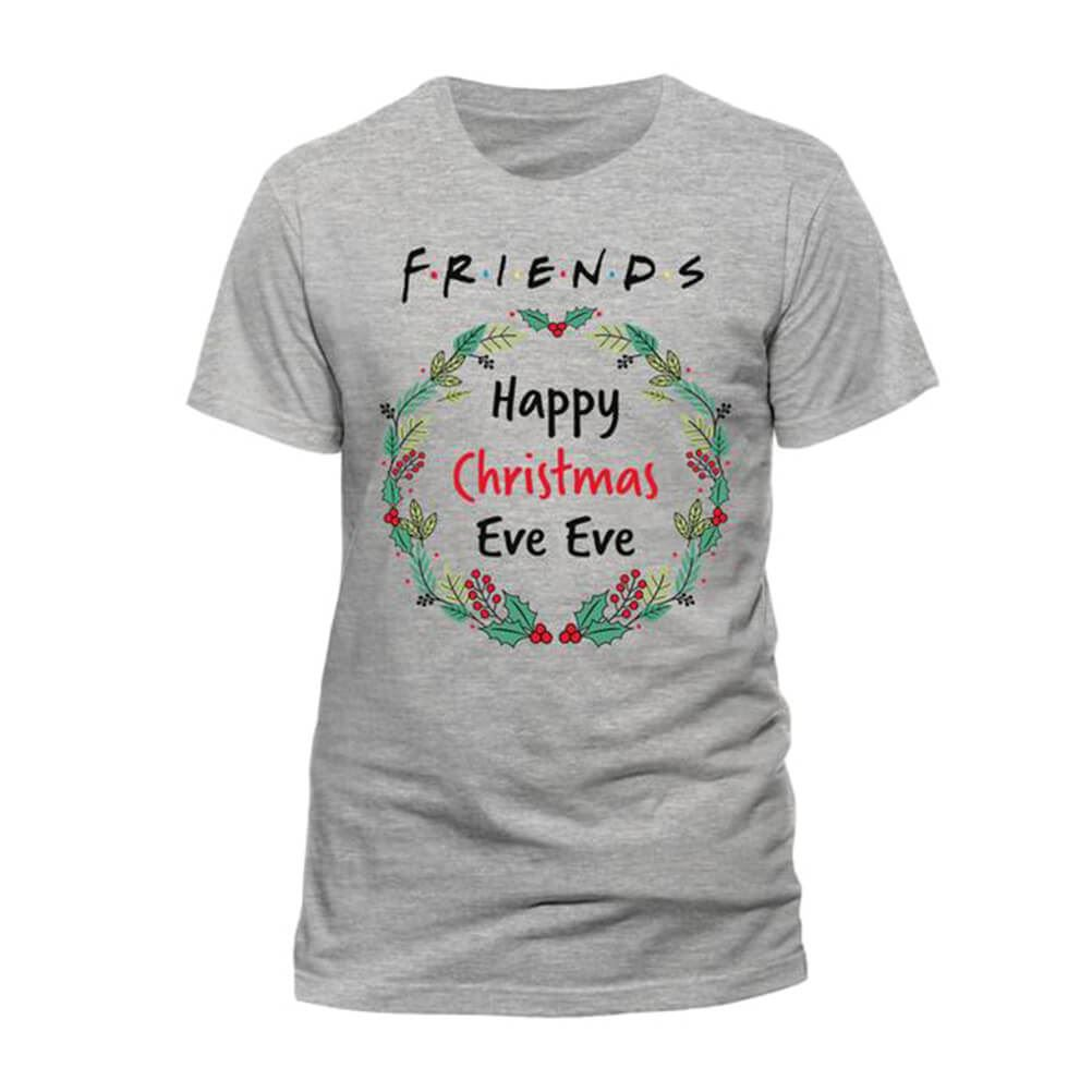 Women's Friends Happy Christmas Eve Eve Fitted T-Shirt