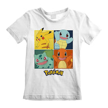 Load image into Gallery viewer, Children's Pokemon Character Squares White T-Shirt