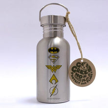 Load image into Gallery viewer, DC Comics Justice League Logos Eco Bottle.