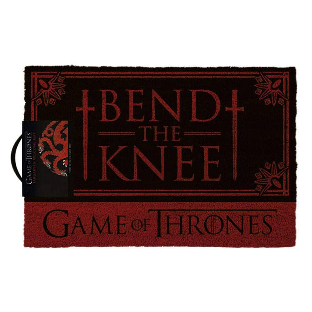Game of Thrones Targaryen Bend the Knee Doormat.