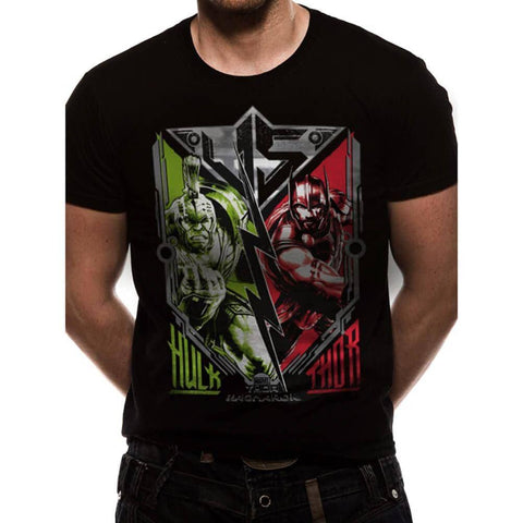 Men's Marvel Thor Ragnarok Hulk VS Thor Design T-Shirt