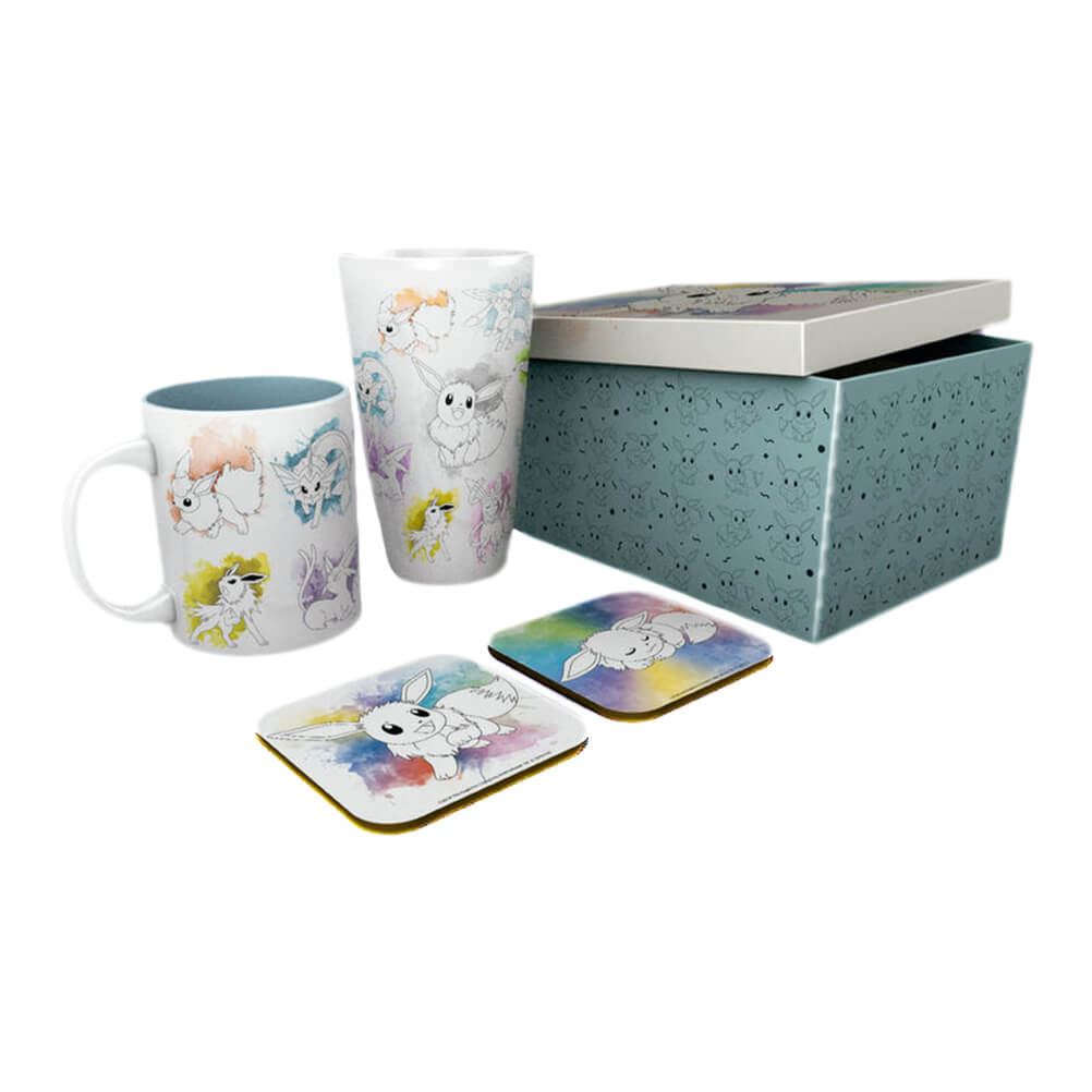 Pokemon Eevee Evolution Drinkware Gift Box