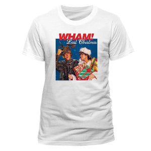 Men's Wham! Last Christmas Album Cover White T-Shirt