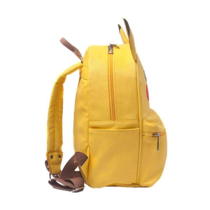 Side View of Pokemon Pikachu Character Backpack with 3D Ears and Side Pockets